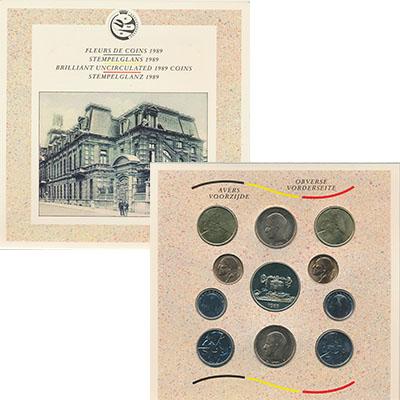 Изображение Подарочные наборы Бельгия Набор 1989 года 1989  UNC