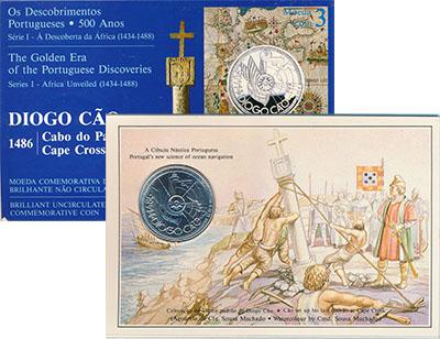 Изображение Подарочные монеты Португалия 100 эскудо 1987 Серебро BUNC Монета номиналом 100