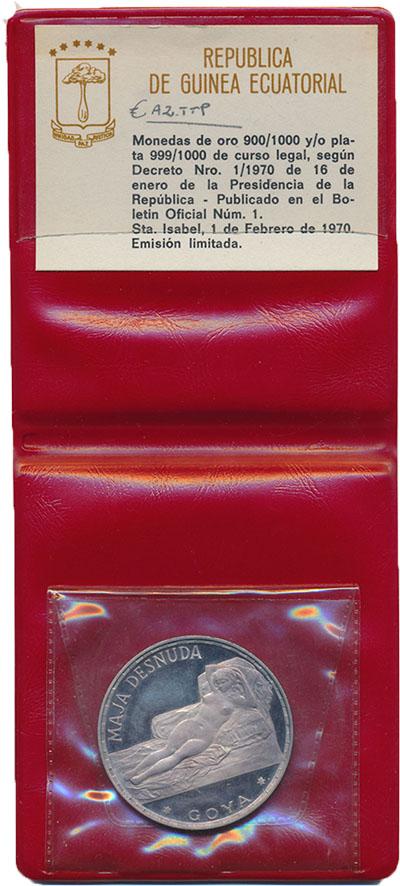Изображение Подарочные монеты Экваториальная Гвинея Франсиско Гойя 1970 Серебро Proof-