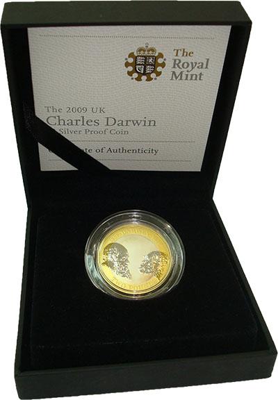 Изображение Подарочные монеты Великобритания 2 фунта 2009 Серебро Proof 2-фунтовая монета (с