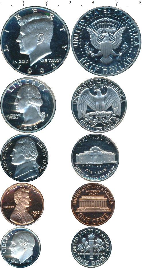 Картинка Подарочные монеты США Набор 1992 года  1992