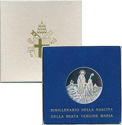 Изображение Подарочные монеты Ватикан 500 лир 1984 Серебро Proof
