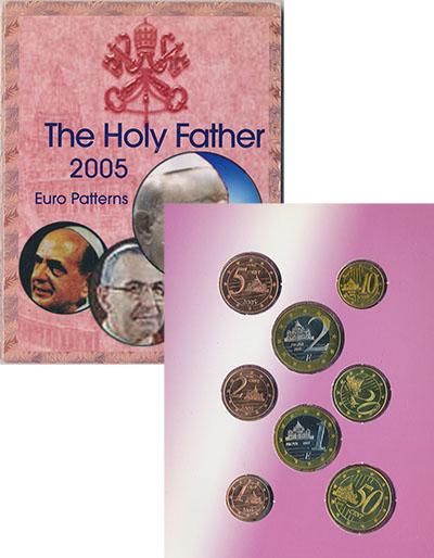 Изображение Подарочные монеты Ватикан Европроба 2005 2005  UNC Набор из восьми фант