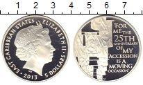 Изображение Монеты Карибы 5 долларов 2013 Серебро Proof