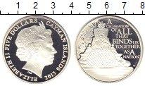 Изображение Монеты Каймановы острова 5 долларов 2013 Серебро Proof Елизавета II.