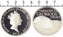 Изображение Монеты Острова Питкэрн 2 доллара 2013 Серебро Proof `Елизавета II. ``В п