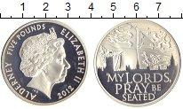 Изображение Монеты Олдерни 5 фунтов 2012 Серебро Proof `Елизавета II. ``Гос