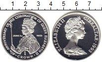 Изображение Монеты Гибралтар 1 крона 1993 Серебро Proof Елизавета II. 40 - л
