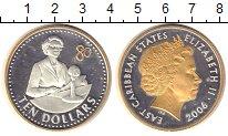 Изображение Монеты Карибы 10 долларов 2006 Серебро Proof