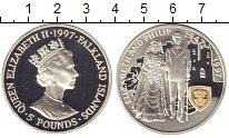 Изображение Монеты Фолклендские острова 5 фунтов 1997 Серебро Proof- 50-летие бракосочета