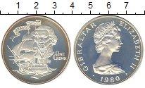 Изображение Монеты Гибралтар 1 крона 1980 Серебро Proof