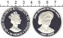 Изображение Монеты Тристан-да-Кунья 50 пенсов 2000 Серебро Proof