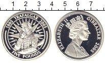 Изображение Монеты Гибралтар 5 фунтов 2005 Серебро Proof-