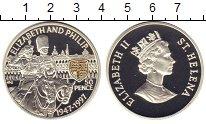 Изображение Монеты Остров Святой Елены 50 пенсов 1997 Серебро Proof- 50-летие бракосочета