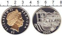 Изображение Монеты Бермудские острова 5 долларов 2003 Серебро Proof