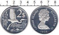 Изображение Монеты Каймановы острова 2 доллара 1974 Серебро Proof-
