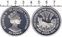 Изображение Монеты Остров Святой Елены 50 пенсов 1994 Серебро Proof