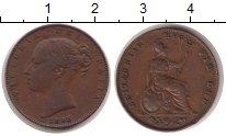 Изображение Монеты Великобритания 1 фартинг 1843 Медь XF-