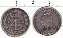 Изображение Монеты Великобритания 4 пенса 1892 Серебро Prooflike