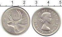 Изображение Монеты Канада 25 центов 1964 Серебро XF