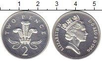 Изображение Монеты Великобритания 2 пенса 1996 Серебро Proof