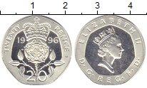 Изображение Монеты Великобритания 20 пенсов 1996 Серебро Proof Елизавета II.