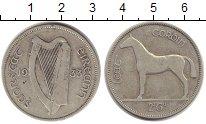 Изображение Монеты Ирландия 1/2 кроны 1933 Серебро VF