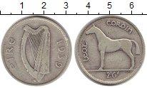 Изображение Монеты Ирландия 1/2 кроны 1939 Серебро VF
