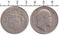 Изображение Монеты Великобритания 1/2 кроны 1908 Серебро VF