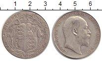 Изображение Монеты Великобритания 1/2 кроны 1910 Серебро VF