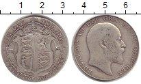 Изображение Монеты Великобритания 1/2 кроны 1909 Серебро VF