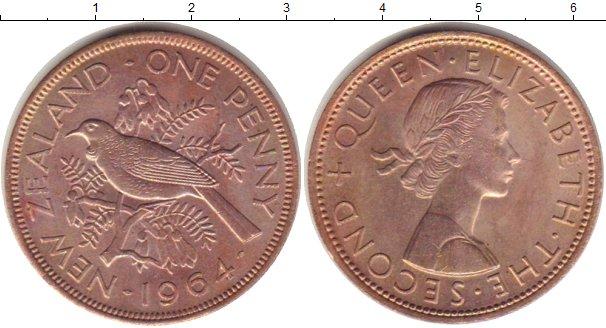 Картинка Мелочь Новая Зеландия 1 пенни Бронза 1964