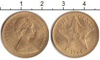 Изображение Монеты Багамские острова 1 цент 1966 Латунь UNC