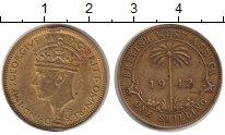 Изображение Монеты Западная Африка 1 шиллинг 1942 Латунь VF Георг VI