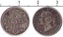 Изображение Монеты Канада Ньюфаундленд 5 центов 1890 Серебро VF