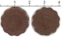 Изображение Монеты Кипр 1/2 пиастра 1949 Бронза XF