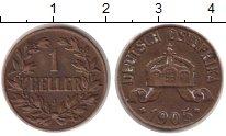Изображение Монеты Немецкая Африка 1 геллер 1905 Бронза XF