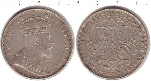 Картинка Монеты Стрейтс-Сеттльмент 1 доллар Серебро 1904