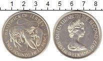 Изображение Монеты Остров Джерси 2 1/2 фунта 1972 Серебро UNC-