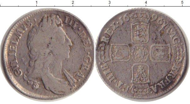 Картинка Монеты Великобритания 1 шиллинг Серебро 1696