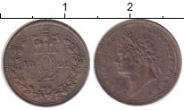 Изображение Монеты Великобритания 2 пенса 1822 Серебро Prooflike