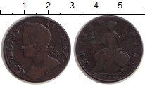 Изображение Монеты Великобритания 1/2 пенни 1745 Медь VF Георг II
