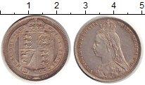 Изображение Монеты Великобритания 1 шиллинг 1889 Серебро XF+ Виктория