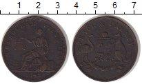 Изображение Монеты Австралия 1 пенни 1858 Медь XF- Токен.Мельбурн