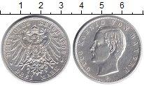 Изображение Монеты Бавария 3 марки 1908 Серебро XF