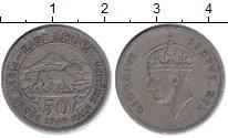 Изображение Монеты Восточная Африка 50 центов 1949 Медно-никель XF