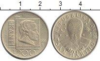 Изображение Монеты Сан-Марино 200 лир 1996 Латунь UNC- Кант