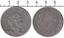 Изображение Монеты Мексика 5 песо 1976 Медно-никель XF Висенте Герреро.