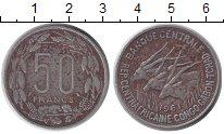 Изображение Монеты Центральная Африка 50 франков 1961 Медно-никель VF