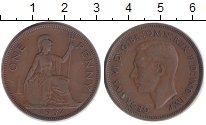 Изображение Монеты Великобритания 1 пенни 1937 Бронза XF